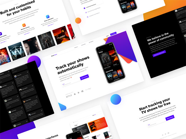 showtrackr-landing-page-template